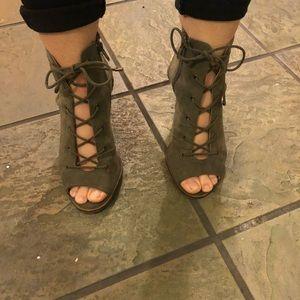 Army Green Heels/Booties